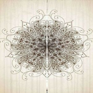 Curtains Ornate Floral Mandala Backdrop 21192